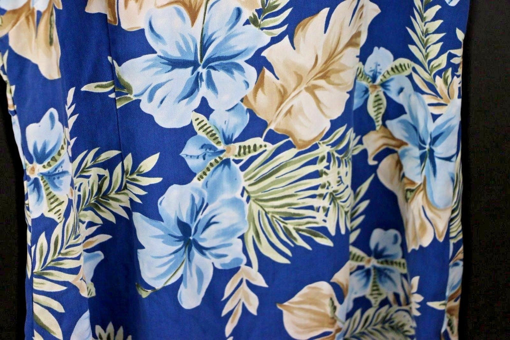 IZOD Blue Floral Silk Women's Dress Size 12 - Fazoom