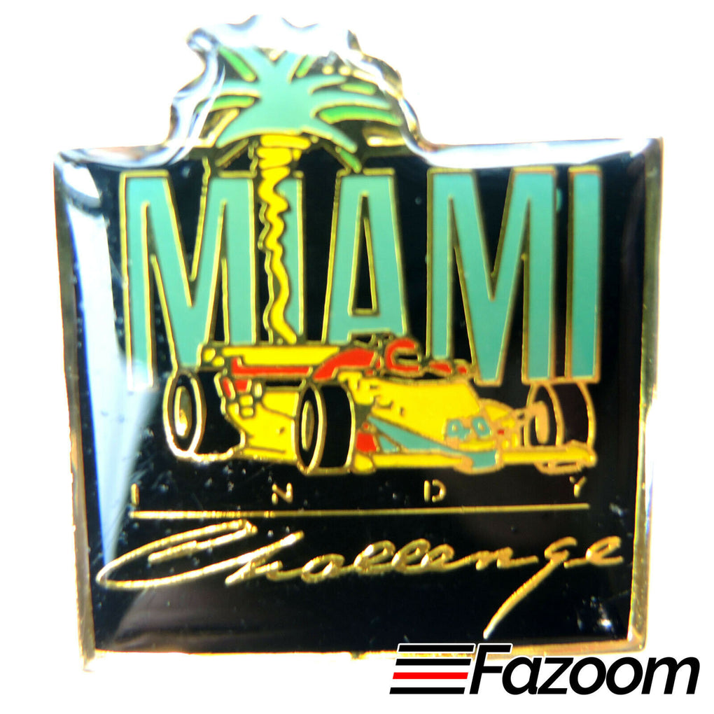 Miami Indy Challenge - IndyCar CART Racing Lapel Pin - Florida - Fazoom
