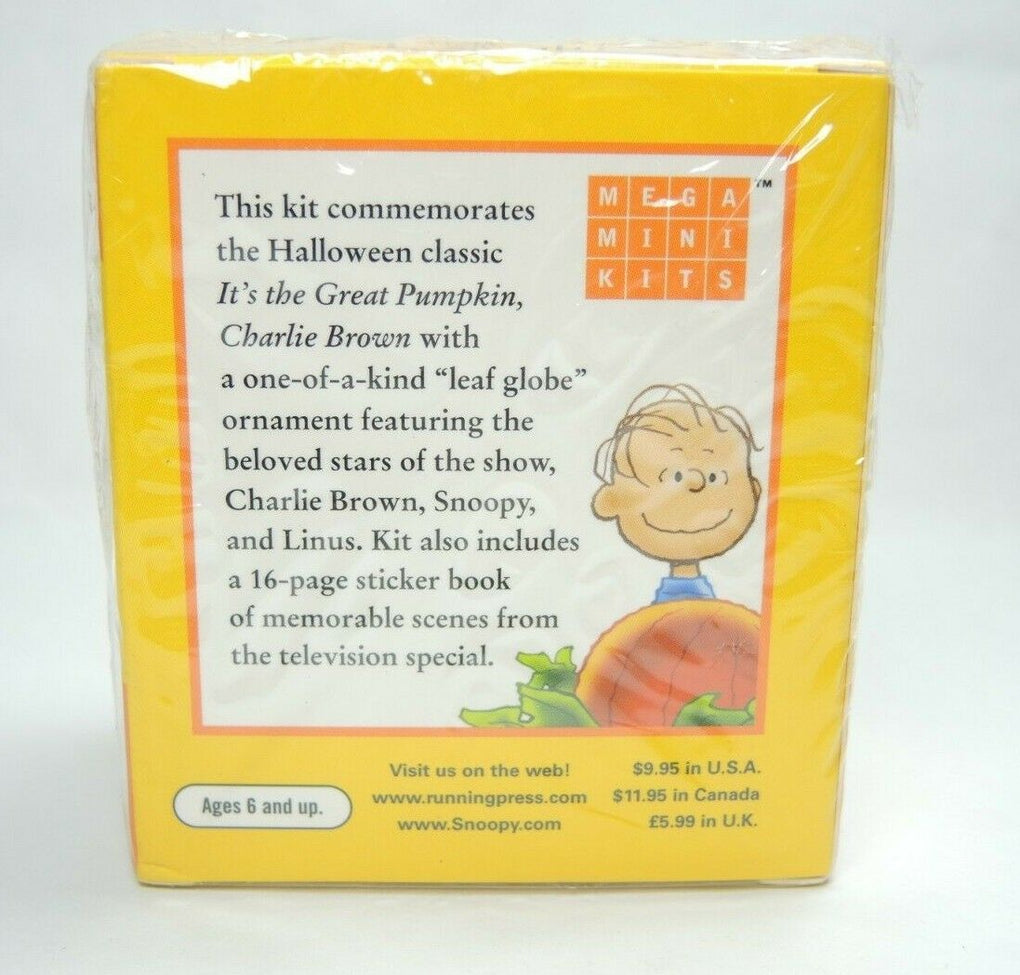 It's the Great Pumpkin Charlie Brown Leaf Snow Globe by Running Press 2011 - Fazoom
