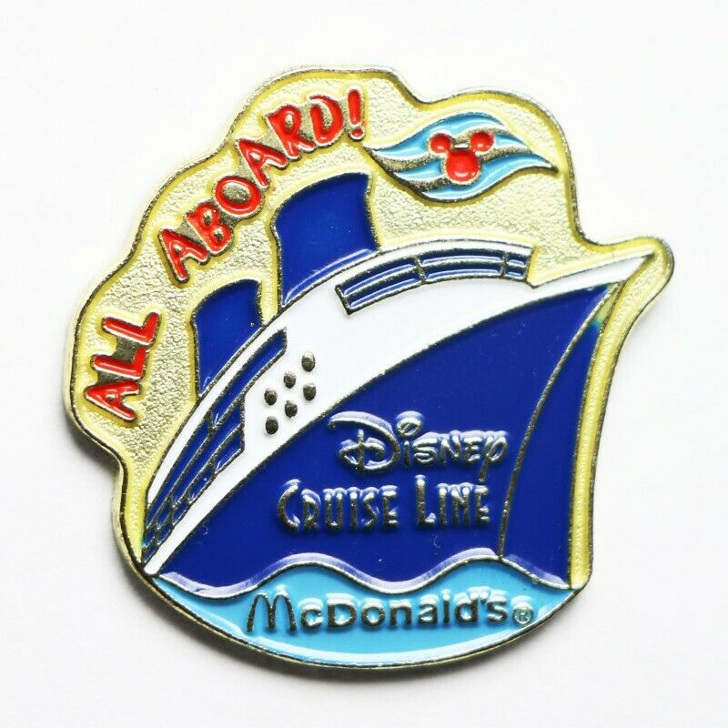 McDonald's Disney Cruise Line All Aboard! Lapel Pin - fazoom