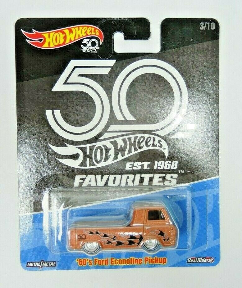 2018 Hot Wheels 50th Anniversary Favorites 60s Ford Econoline Pickup - Fazoom