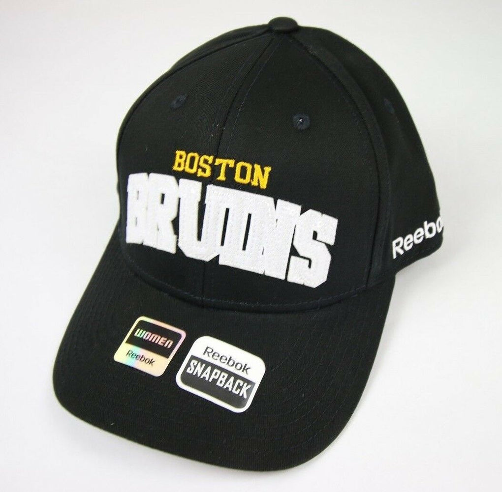 Boston Bruins NHL Women's Sequenced Structured Adjustable Snapback Black Cap Hat - fazoom