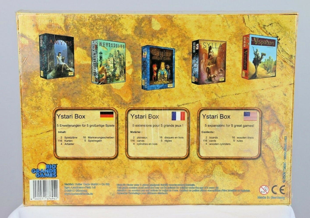 Ystari Box of Rio Grande Games Expansions 2009 New Sealed Y Stari Board Game - fazoom