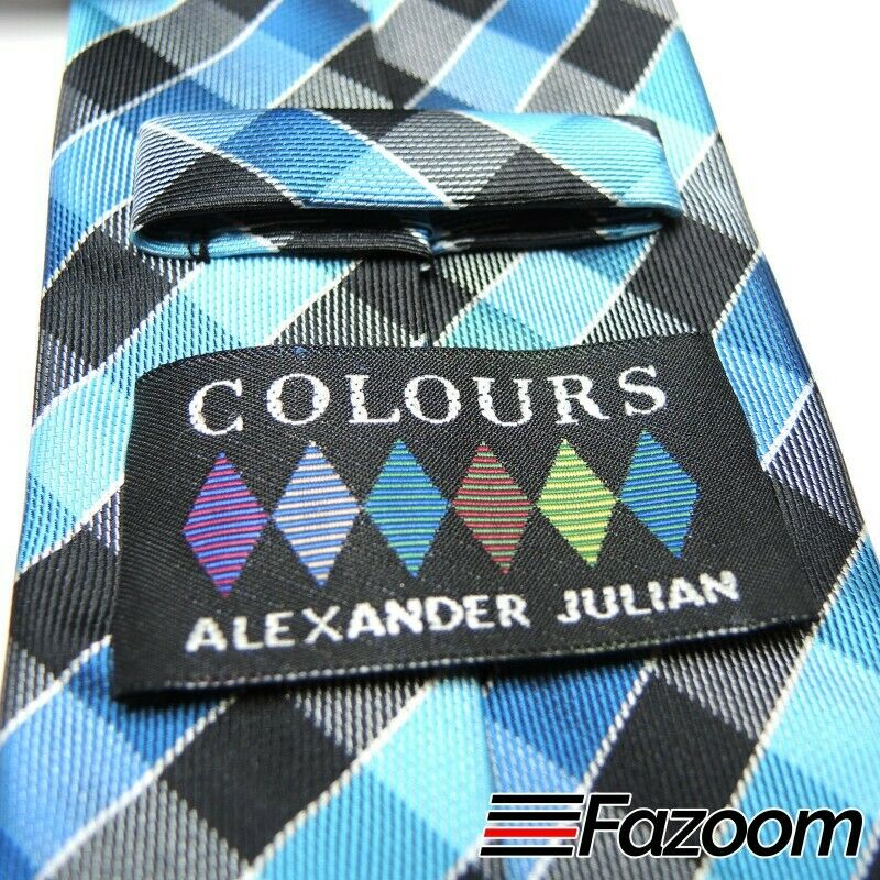 Colours by Alexander Julian Polyester Checks Necktie - Fazoom