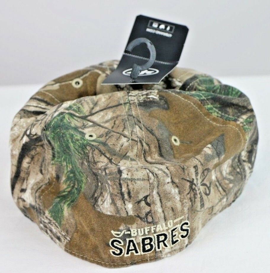 Buffalo Sabres NHL Realtree Franchise Fitted Camo Hat Cap, Medium M - fazoom