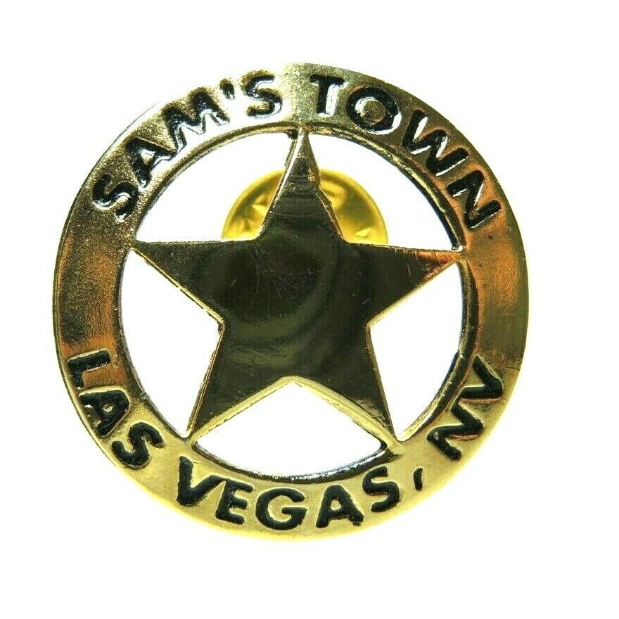 Sam's Town Las Vegas Nevada Sheriff Star Badge Lapel Pin - Fazoom