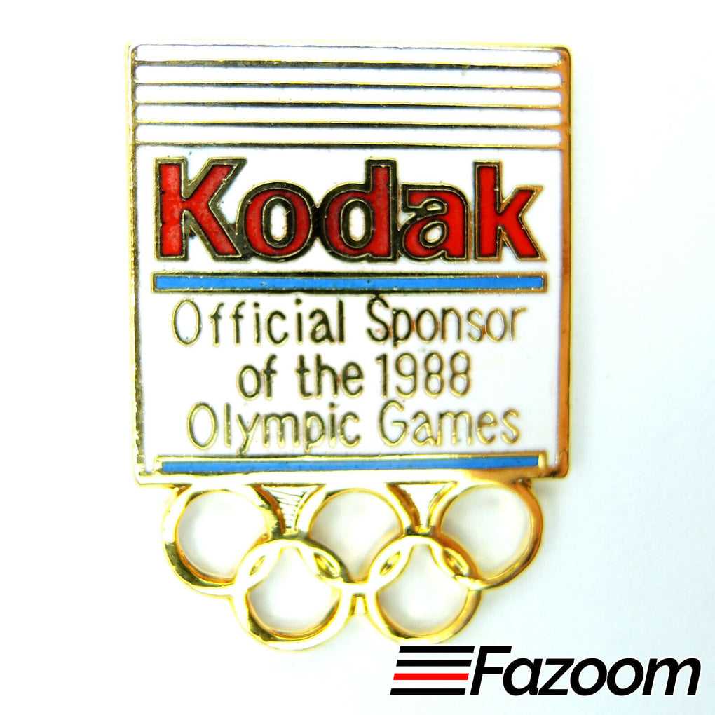 1988 Seoul Korea Summer Olympics Kodak Sponsor Lapel Pin (Version 1) - fazoom
