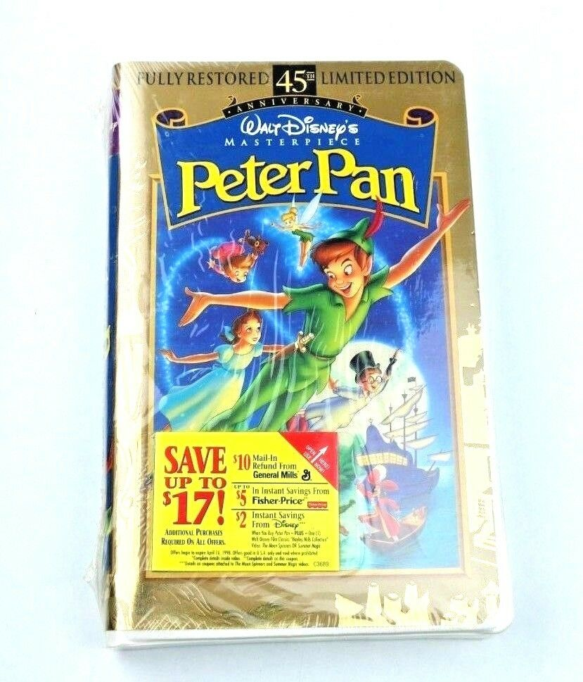 Walt Disney Peter Pan 45th Anniversary Limited Edition VHS Home Video Brand New! - fazoom