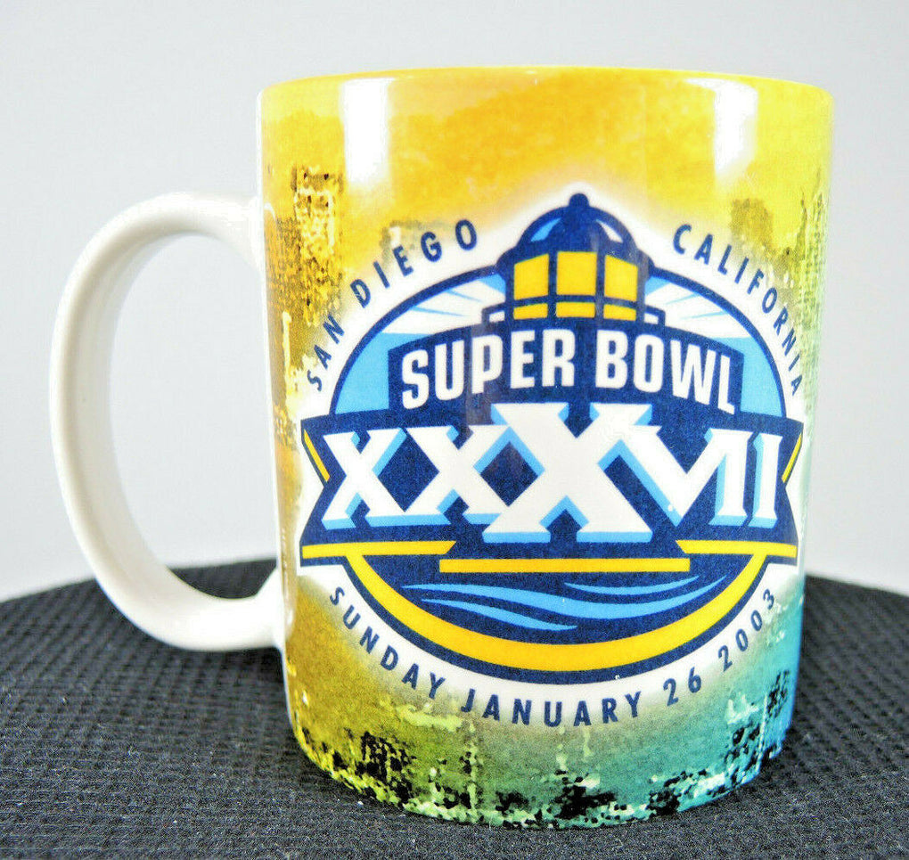 2003 Super Bowl XXXVII 37 Coffee Mug Buccaneers Raiders San Diego California Cup - fazoom