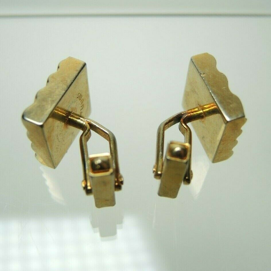 Swank Square Gold Tone Vintage Men's Cuff Links Cufflinks - Fazoom
