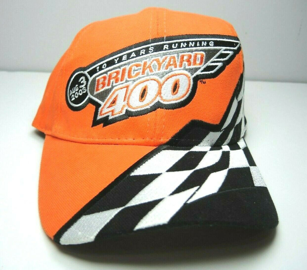 Brickyard 400 Indianapolis 2003 NASCAR IMS Racing Strapback Hat Chase Authentics - fazoom