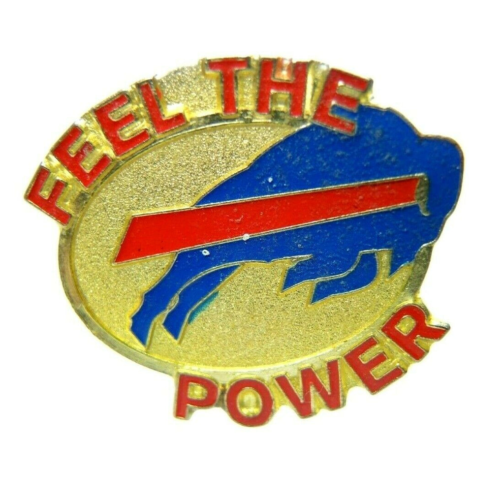 Buffalo Bills Feel The Power NFL Football Gold Tone Lapel Pin - fazoom