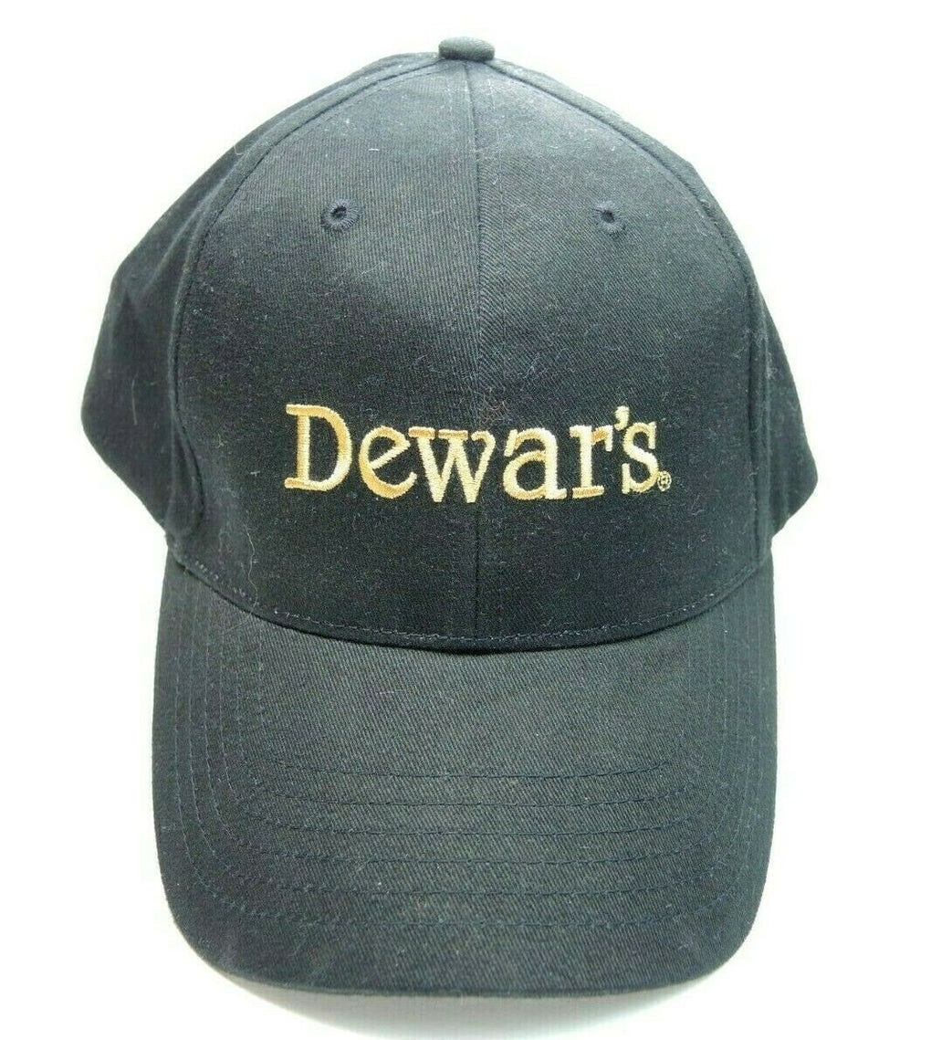 Dewar's Scotch Whisky Whiskey Adjustable Black Baseball Hat Cap Strapback - fazoom