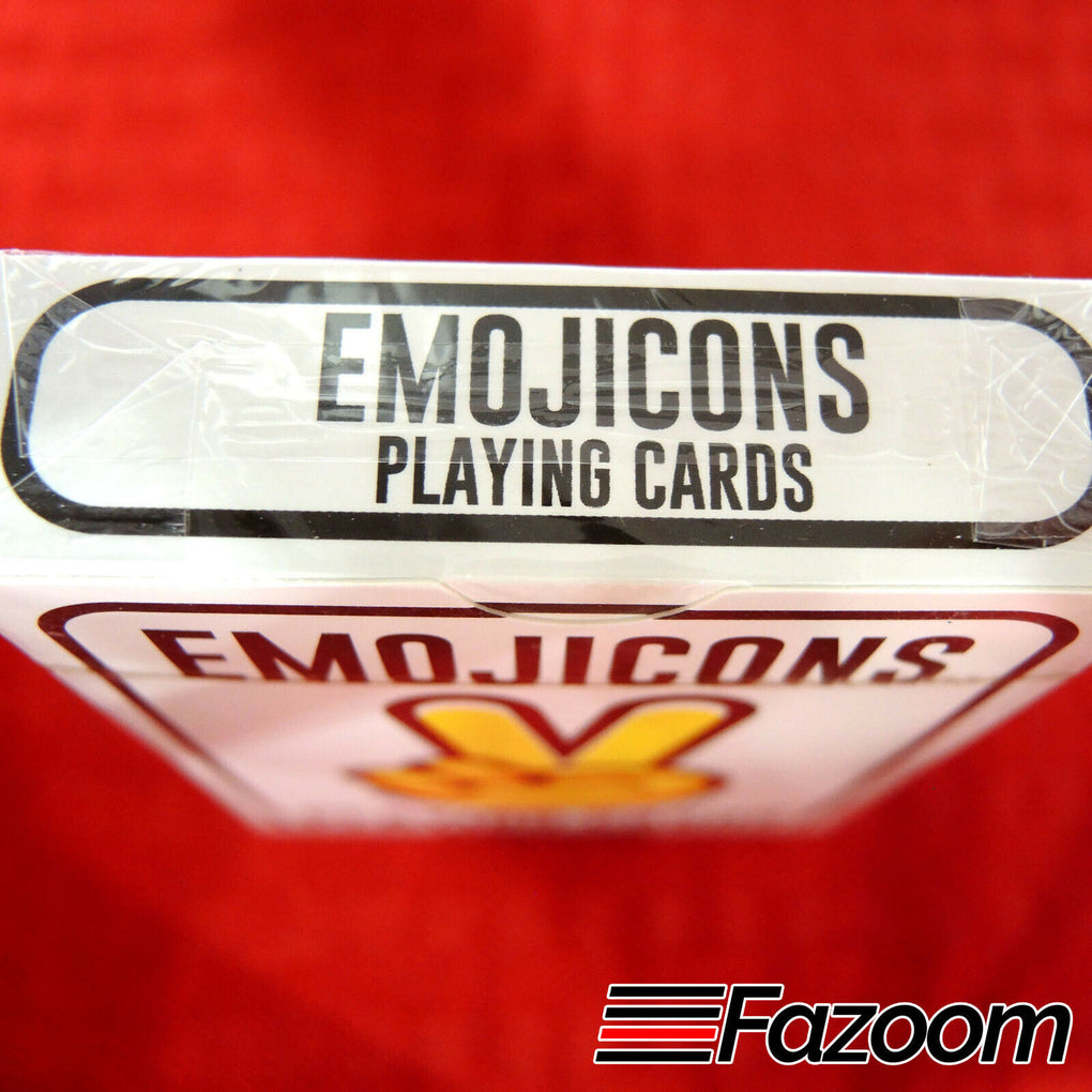 Emojicons Peace Hippie Playing Cards Poker Plastic Coated Limited Edition - Fazoom