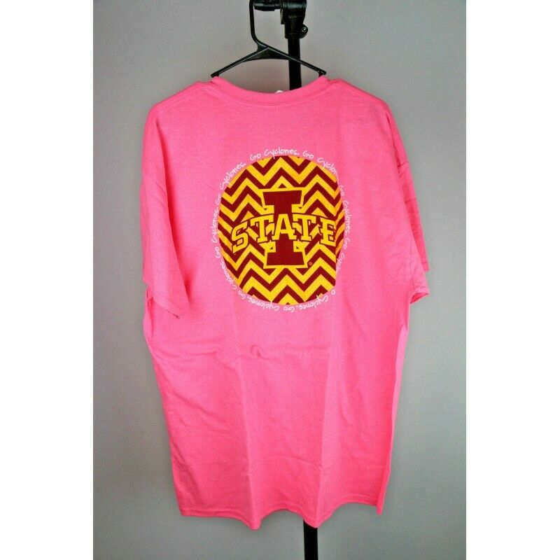 Iowa State Cyclones NCAA Chevron Graphic T-Shirt (XL, Pink) - Fazoom