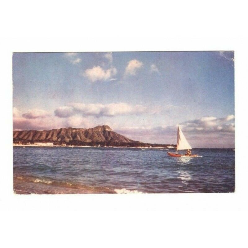 Diamond Head Hawaii Postcard C-7 Industry Agriculture For Defense 1-Cent Stamp - Fazoom