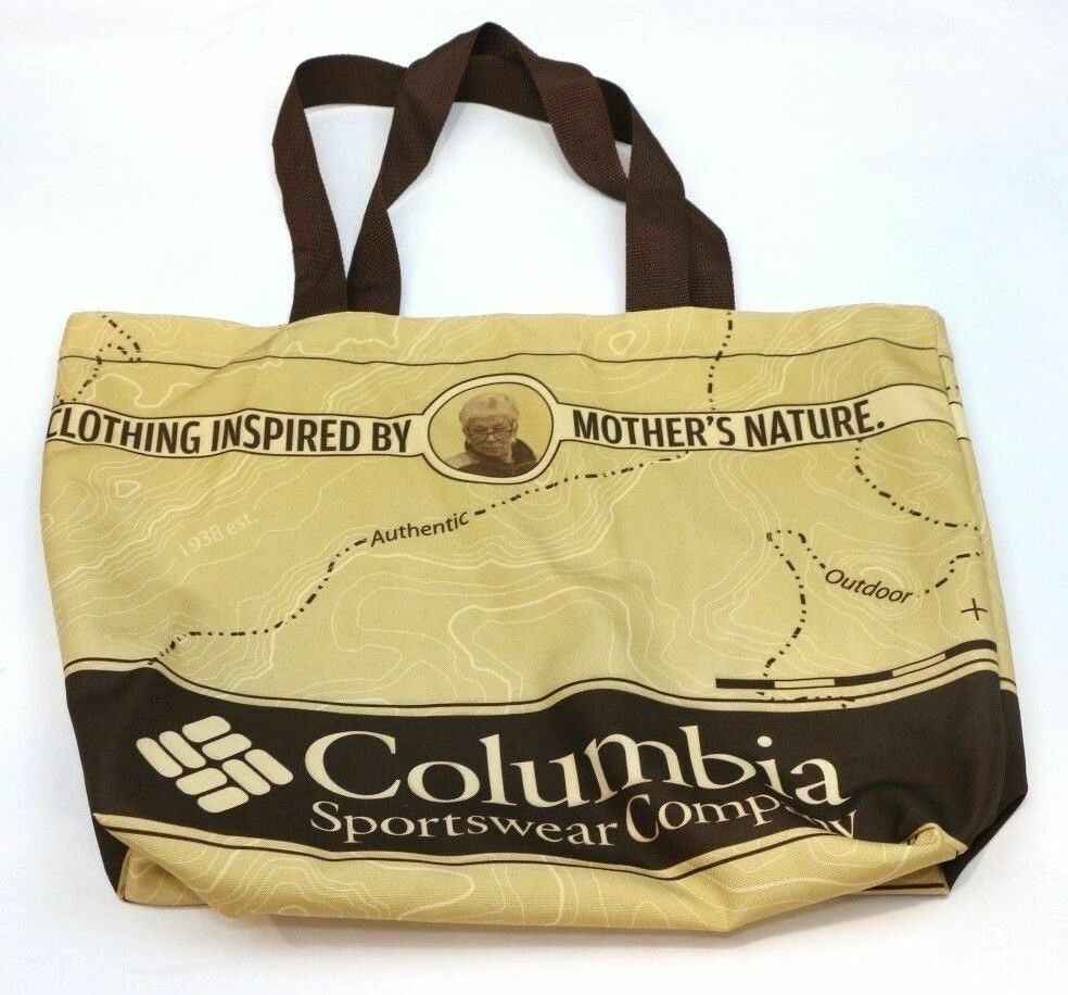 COLUMBIA SPORTSWEAR Reusable Mother Nature Tote Bag Nylon Map - fazoom