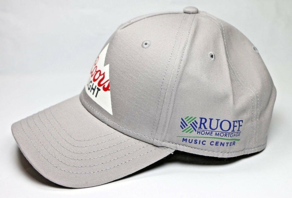 Coors Light Beer Ruoff Music Center Indianapolis Gray Baseball Cap Hat OS OSFA - Fazoom