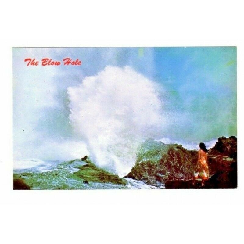 The Blow Hole Hawaii Postcard C3307 Hawaiian - Fazoom
