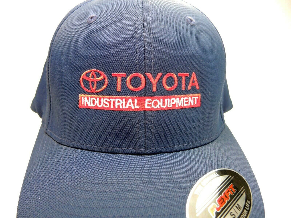 Toyota Industrial Equipment Navy Blue Baseball Hat Cap Fitted Size Small/Medium - fazoom