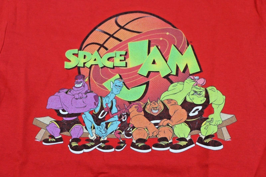 Space Jam Looney Tunes Little Boys' Monstars Squad Short Sleeve T-Shirt Red 7 - Fazoom