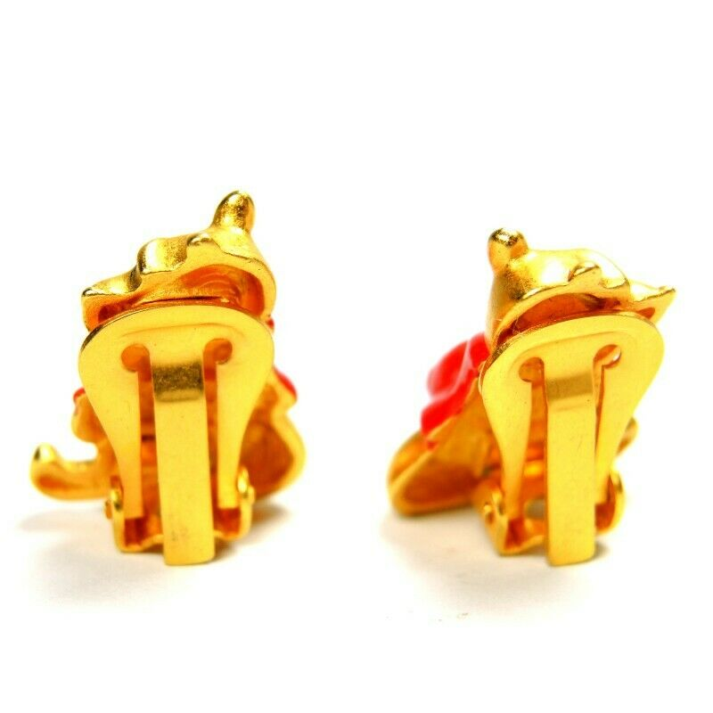 Disney Winnie The Pooh Vintage Clip-On Earrings ~ Fashion Costume Jewelry - Fazoom