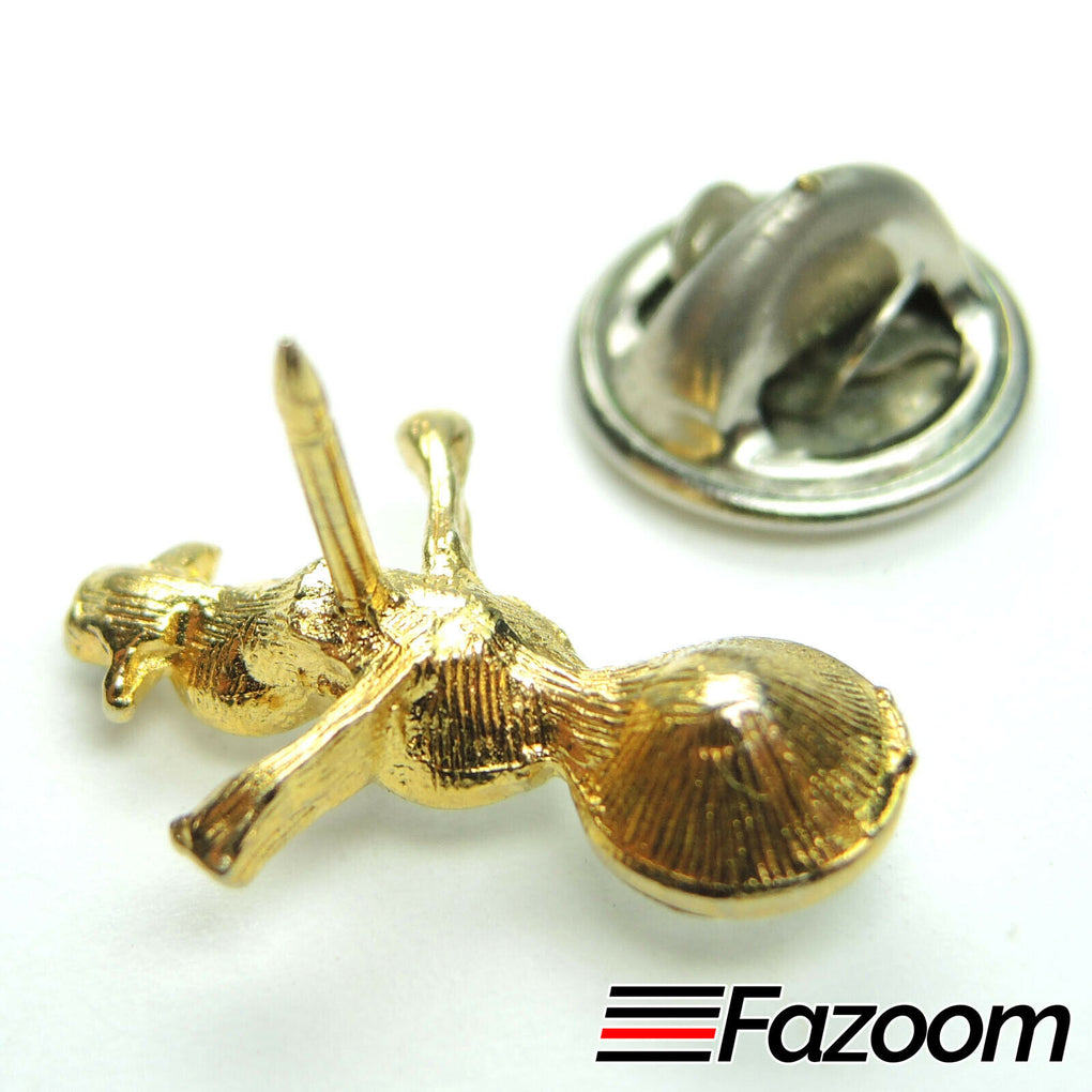 Gold-Tone Christmas Small Snowman Brooch Lapel Pin with Rhinestones - fazoom
