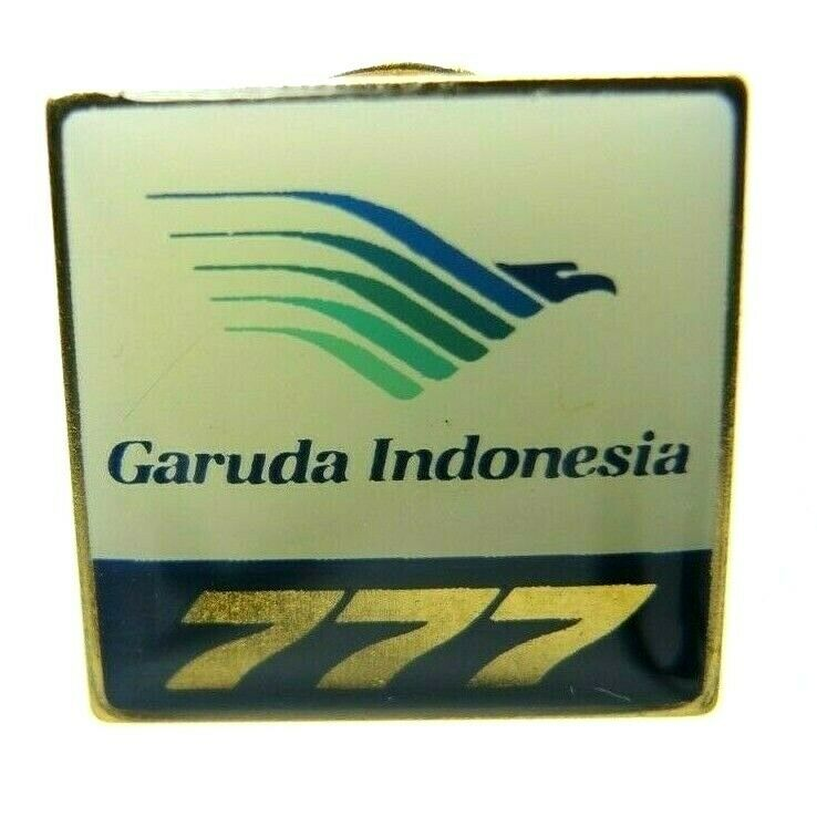 Garuda Indonesia Airline Boeing 777 Aviation Gold Tone Lapel Pin - Fazoom