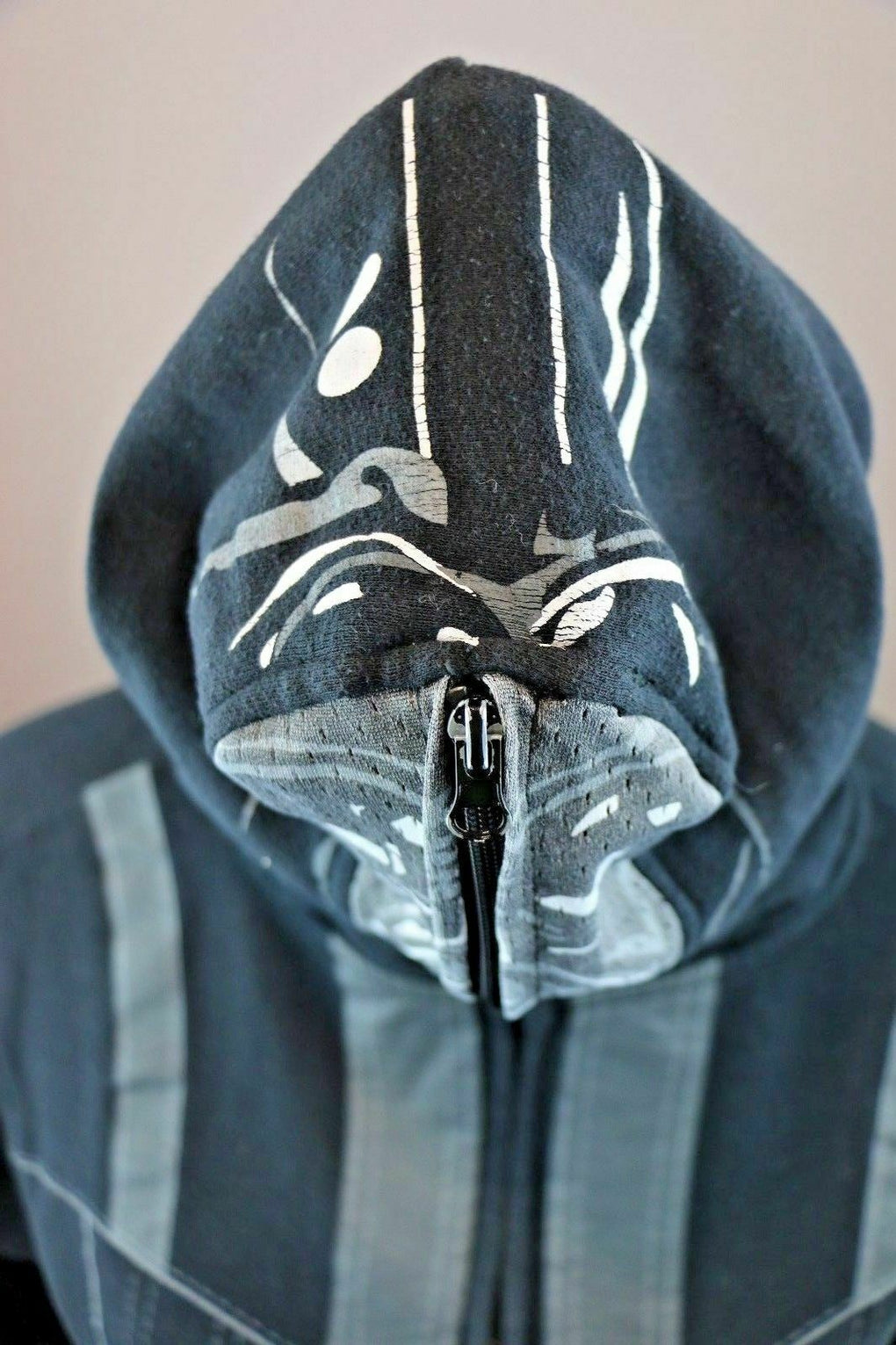 Youth STAR WARS Full Zip Darth Vader Mask Hoodie Sweatshirt Large 15/16 - Fazoom