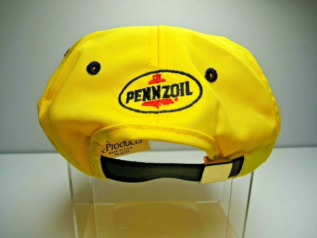 Pennzoil Racing Adjustable Yellow Baseball Hat Cap Strapback K Products USA - Fazoom