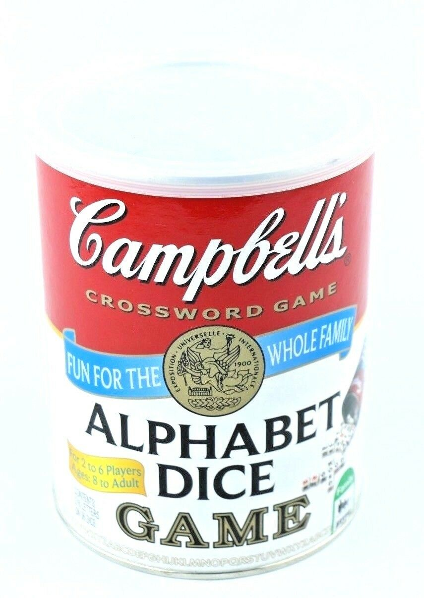 Campbell's Alphabet Dice Game Complete Crossword Age 8+ Family Soup - fazoom