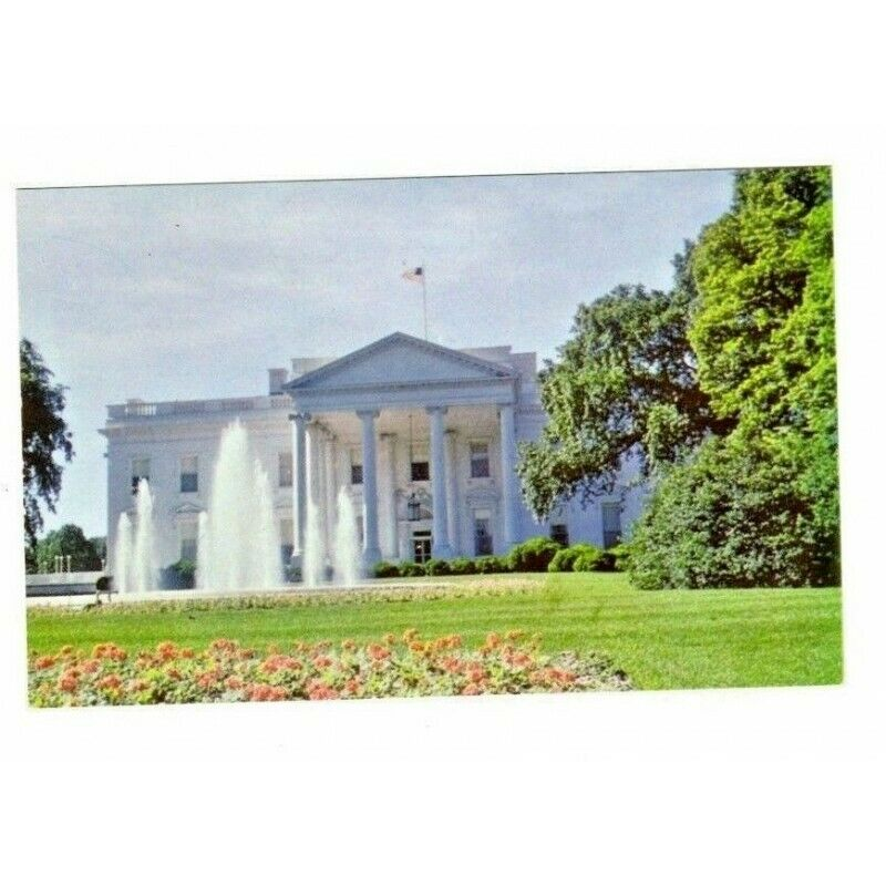 White House DC Chrome USA Vintage Postcard PE 25 - fazoom