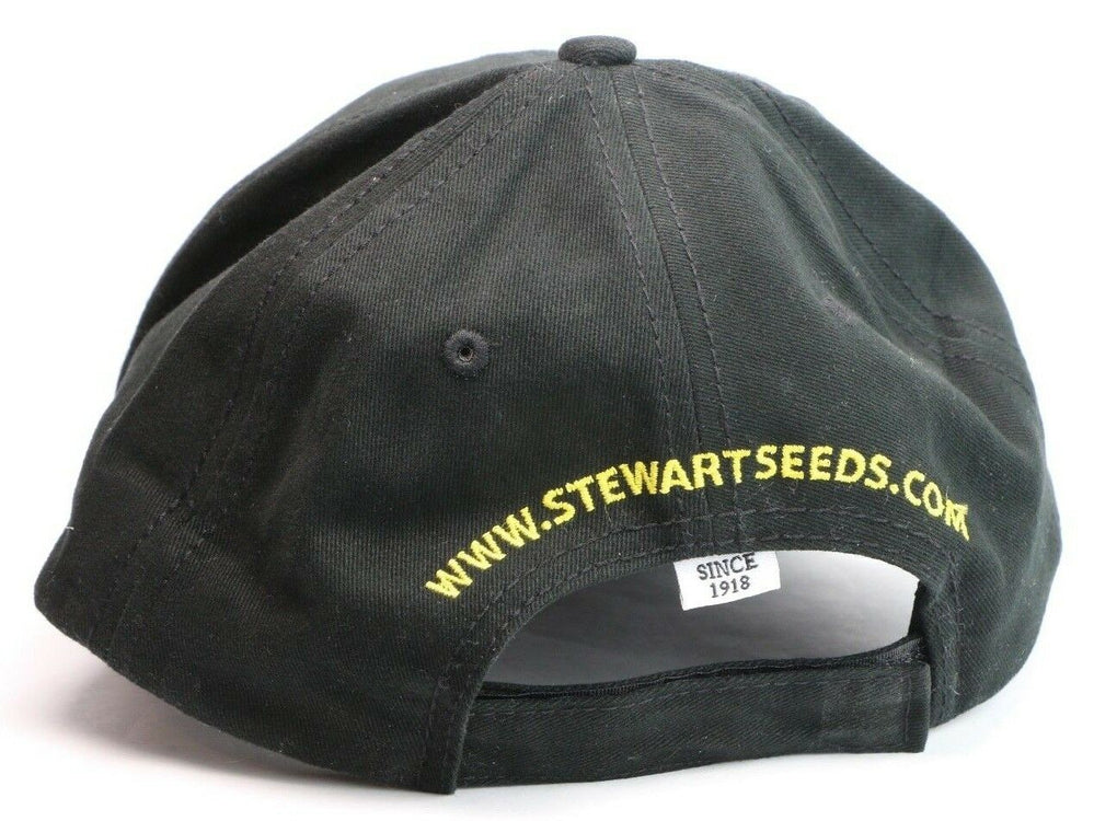 Stewart Seeds Farming Farm Black Adjustable Baseball Hat Cap - fazoom