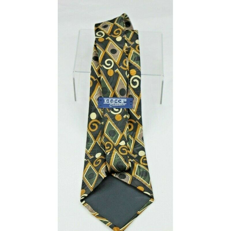 Joseph & Feiss International Silk Geometric Design Vintage Necktie - fazoom
