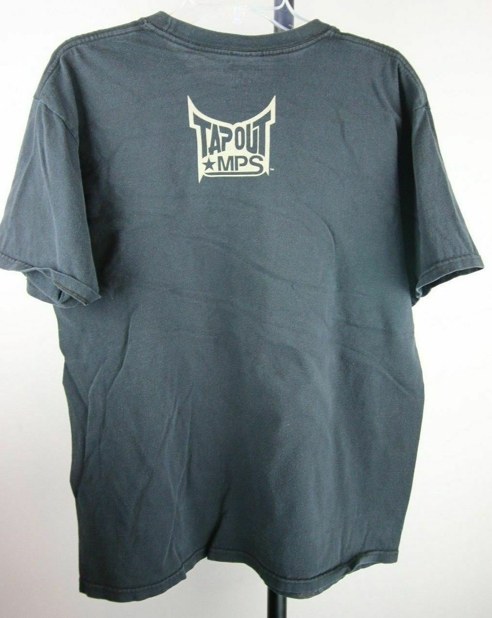 Mens Tapout MPS Black Graphic Tee Skeleton Snake T-shirt Size Large MMA - Fazoom