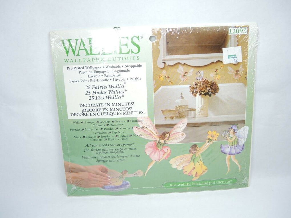 Wallies Prepasted Wallpaper Cutouts 25 FAIRIES Faerie 12093 - fazoom