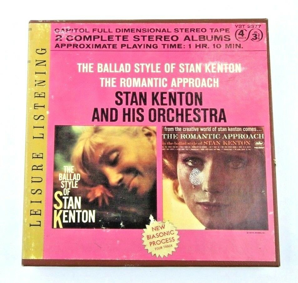 Stan Kenton Ballad Style & Romantic Approach 4-Track Reel To Reel Tape 3 3/4 IPS - fazoom