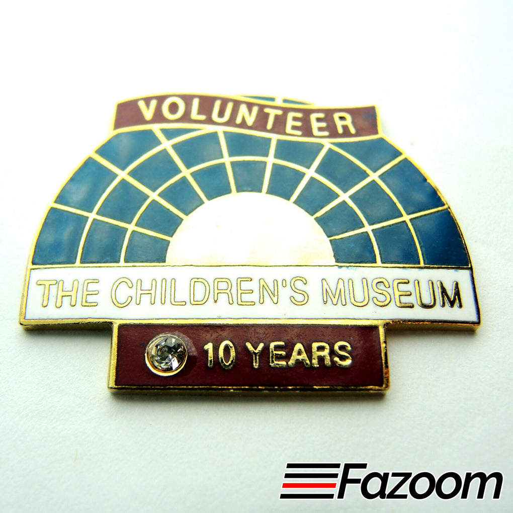 The Children's Museum of Indianapolis 10 Year Volunteer Lapel Pin - Fazoom