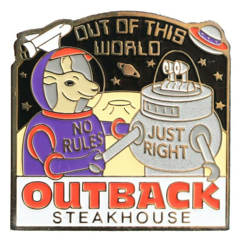 Outback Steakhouse Out of the World Lapel Pin - Fazoom