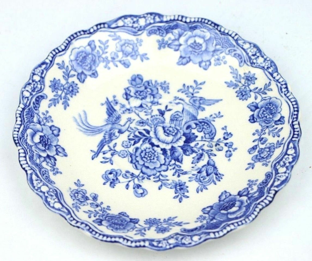Bristol Blue Crown Ducal Saucer Vintage China England - Fazoom