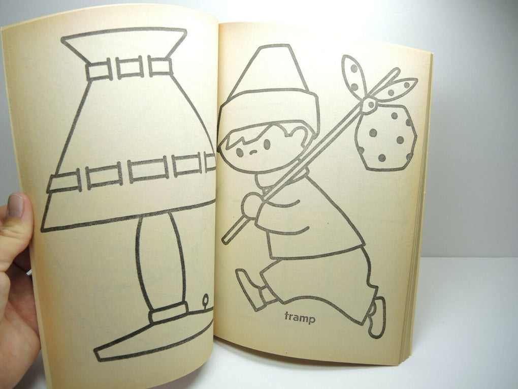 Vintage Coloring Book 1960s Easy Rhyme Words Whitman 1967 #1146 - Fazoom