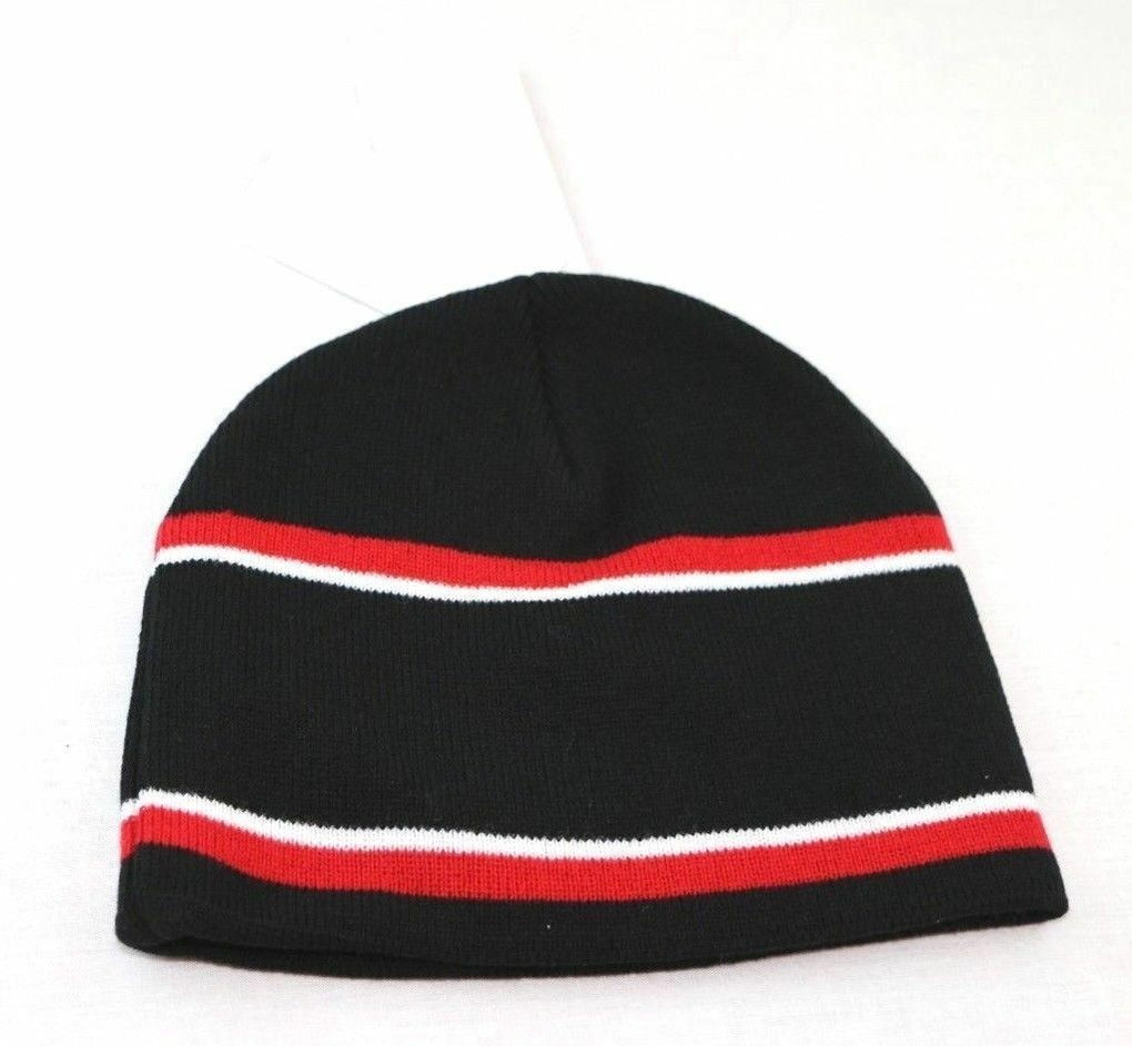 UNLV Rebels NCAA Engager Beanie Hat Cap, One Size, Black/Scarlet/White - Fazoom