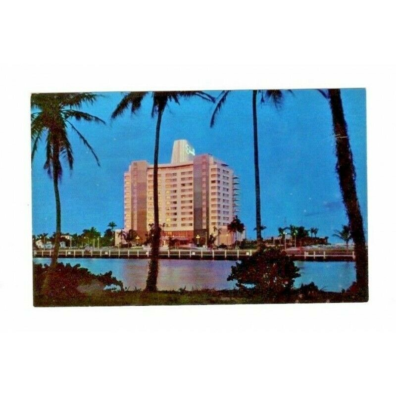 Eden Roc Hotel Miami Beach Florida Chrome USA Vintage Postcard G-411 6C-K1455 - Fazoom