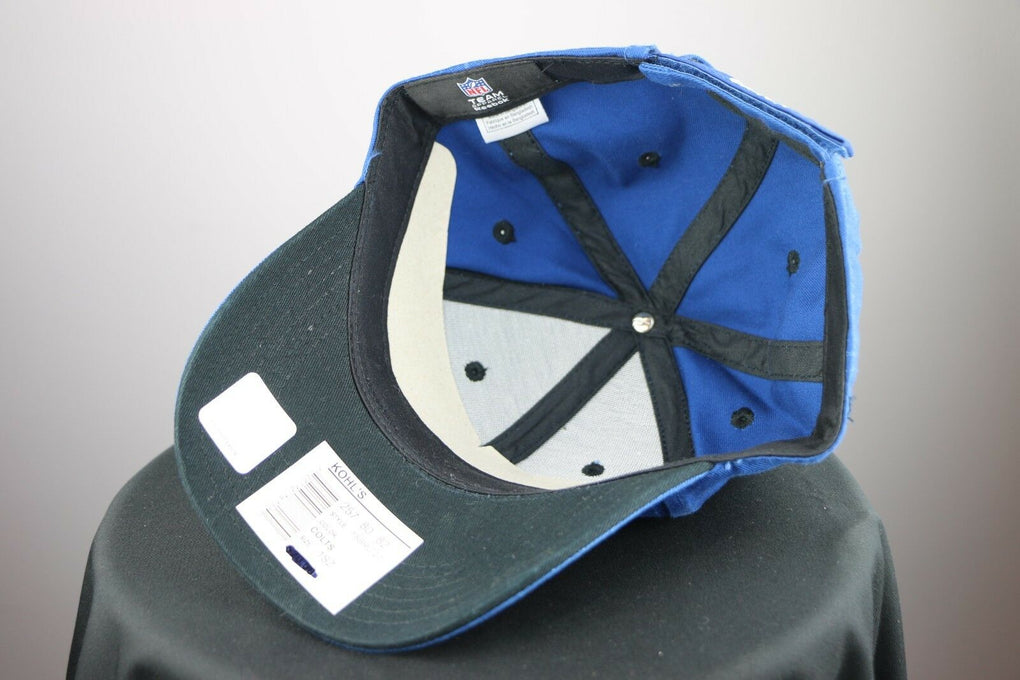Indianapolis Colts NFL Football Reebok Blue Adjustable Strapback Hat Cap - fazoom