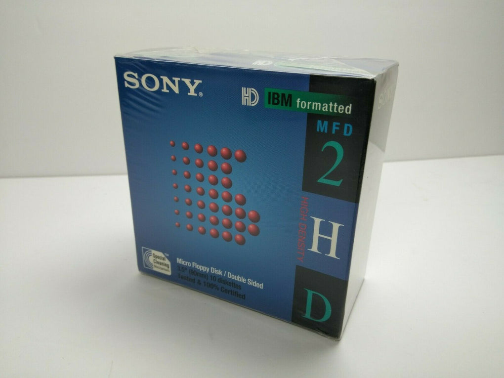 New Sony Micro Floppy Disk 10MFD-2HD 3.5
