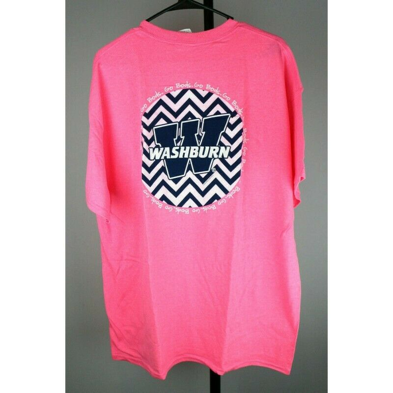 Washburn Ichabods Chevron Graphic T-Shirt, Safety Pink, Size XL - Fazoom