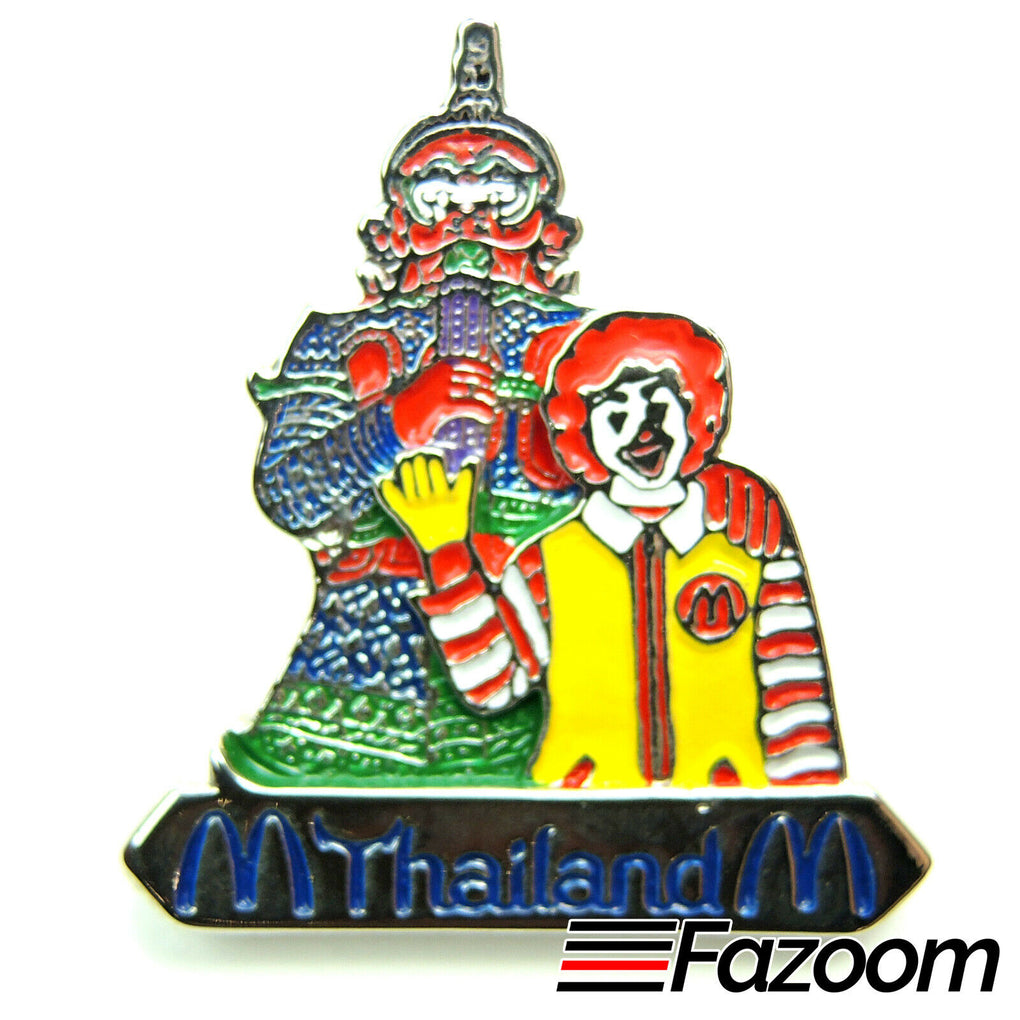 McDonald's Thailand, Bangkok Ronald McDonald & Demon Lapel Pin (Silver Version) - Fazoom