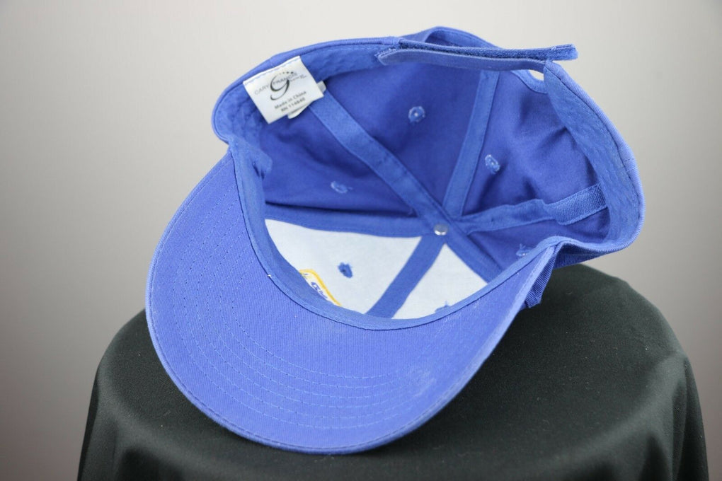 New Holland Agriculture Farming Equipment Royal Blue Hat Adjustable Strapback - fazoom