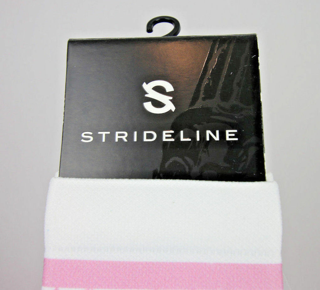 Strideline Breast Cancer Awareness Argyle Pink Women's Athletic Crew Socks OS - Fazoom