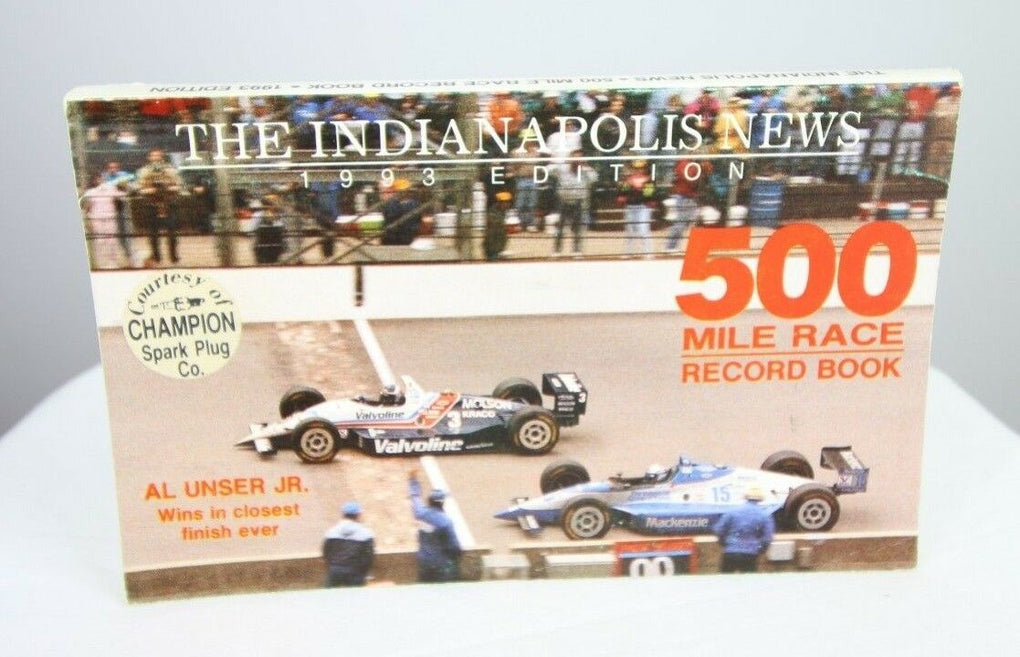 Indianapolis News 1993 500 Mile Race Record Book Al Unser Jr Beat Scott Goodyear - fazoom